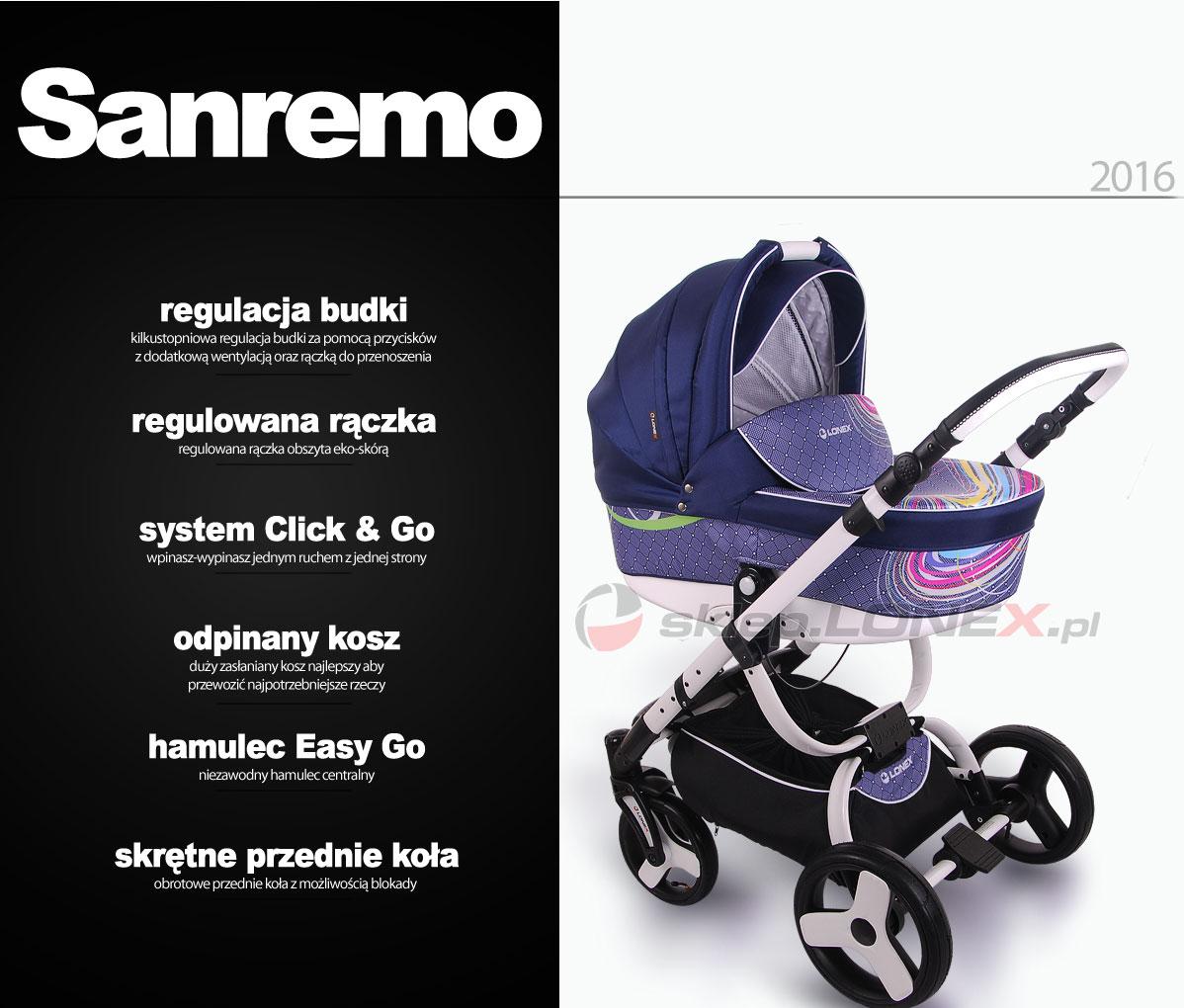 фото коляски Lonex Sanremo